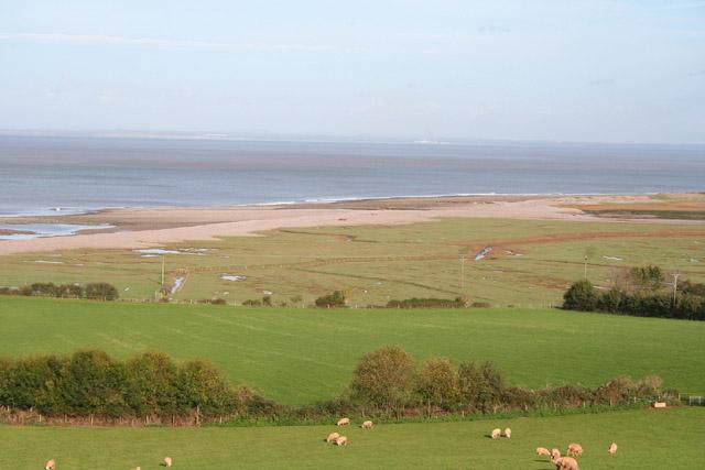 Porlock: fields by the coast at West Porlock