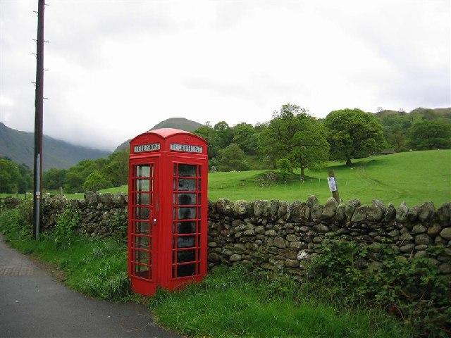 Phone Box near Deepdale Bridge, A592