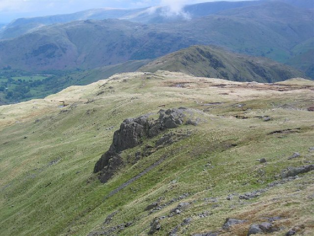 Hartsop Above How, from below Hart Crag