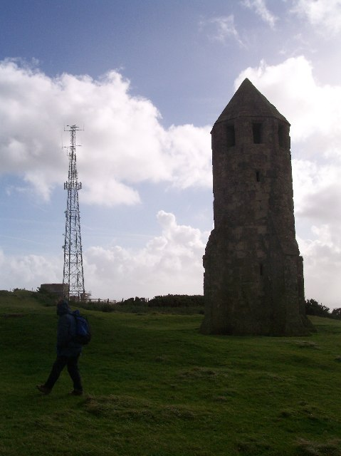 Transmitter Tower and St Catherine's Oratory