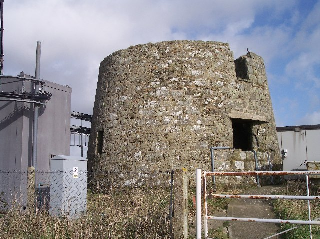 Base of Old Lighthouse on St Catherine's Hill
