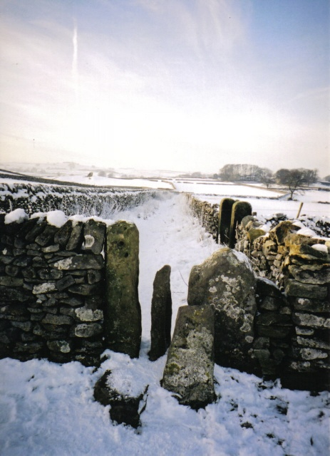 Snowy Peak District Stile