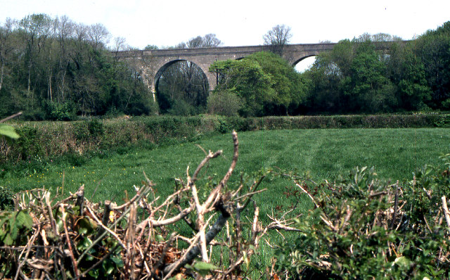 Former railway viaduct, near Trelay