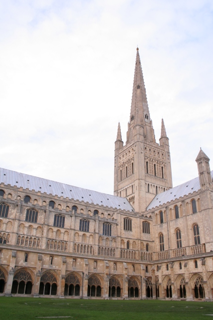 Cloisters and tower, Norwich Cathedral