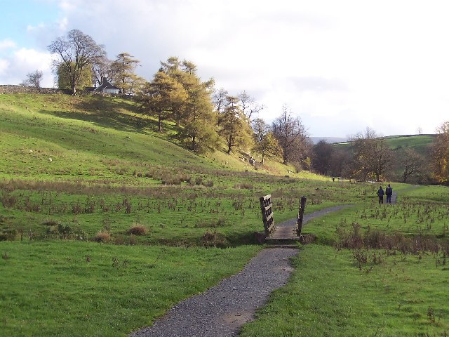 Dales Way crossing Isingdale Beck