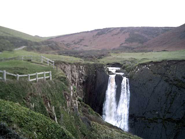 Speke's Mill Mouth waterfall