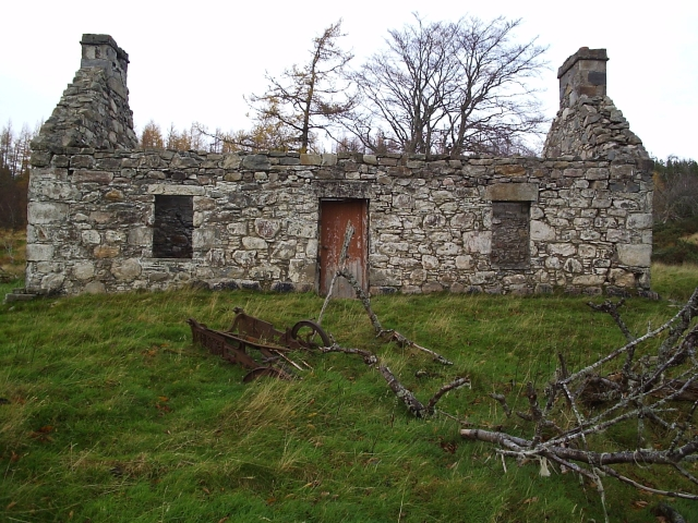 A Croft Ruin at Bailanfhraoich In Strath Carron