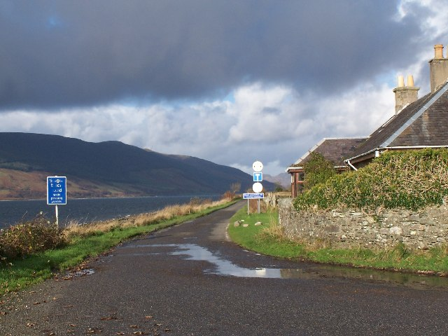 Loch Striven,Port Lamont road junction
