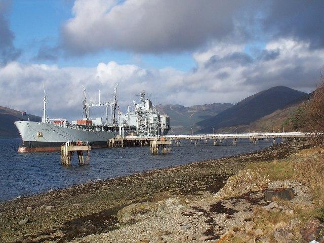 Loch Striven, re-fuelling base