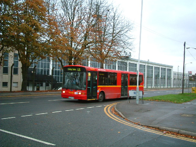 Bus passes RAF West Drayton