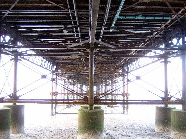 Underneath Cromer Pier