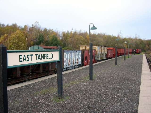 East Tanfield Station, Tanfield Railway