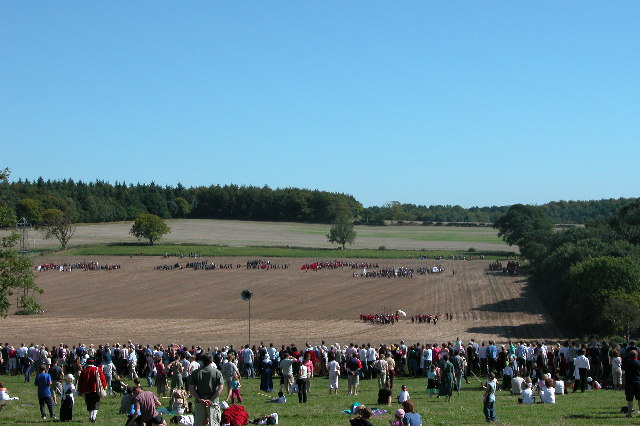 Re-enactment of the Battle of Cheriton