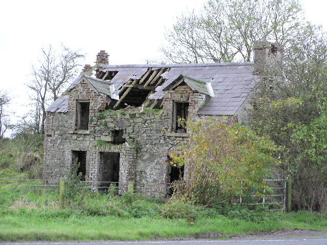 derelict house at raw kenneth allen geograph ireland. Black Bedroom Furniture Sets. Home Design Ideas