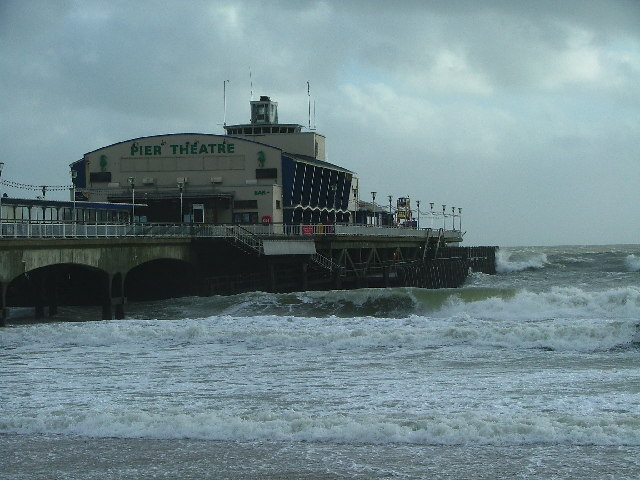 Bournemouth Pier under Wave Attack