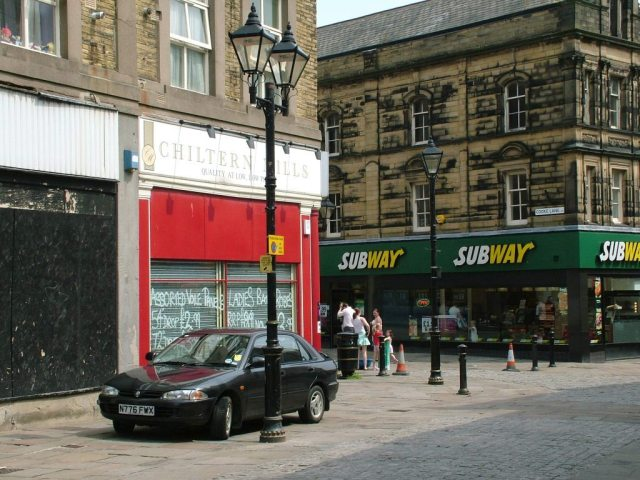 Shops and Lamp Posts, Keighley