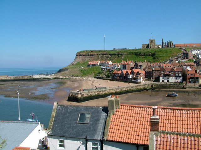 Whitby Harbour and Cliffs