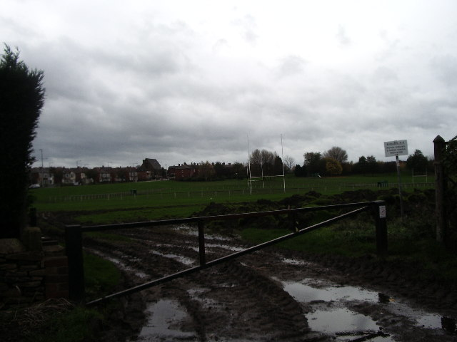 Mud on playing field