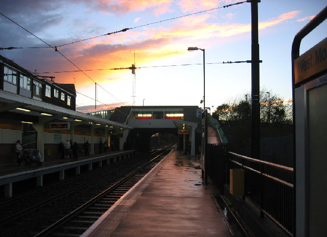 West Monkseaton Metro, evening sky