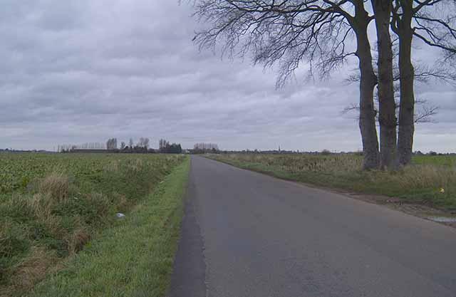 Long Lane, Moulton, looking NNE