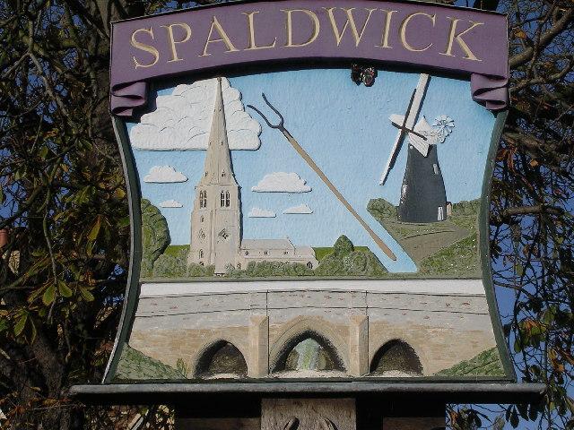 Village sign Spaldwick