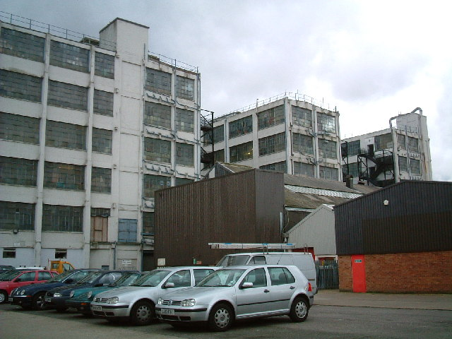 Back of buildings in Blyth Road, Hayes