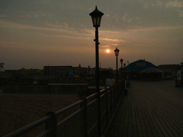Sunset at Skegness Pier