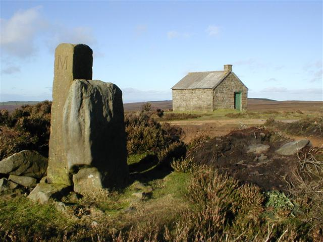 Nelson Stone, Modern Boundary Stone and the Swainby Shooting House