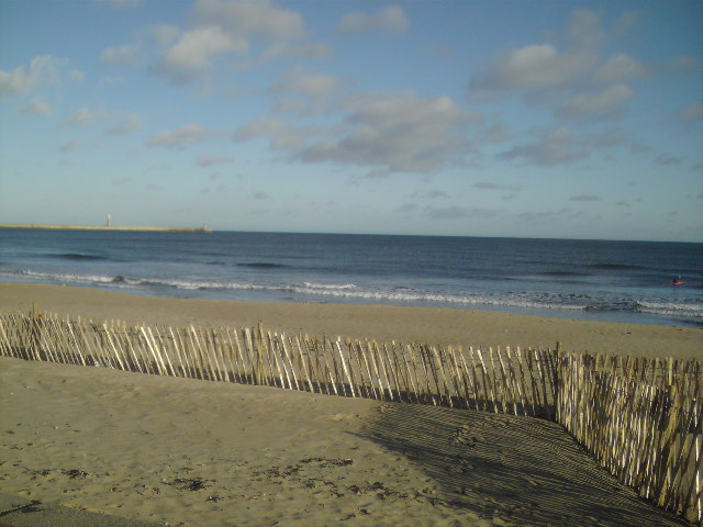 Beach near the lifeguard station