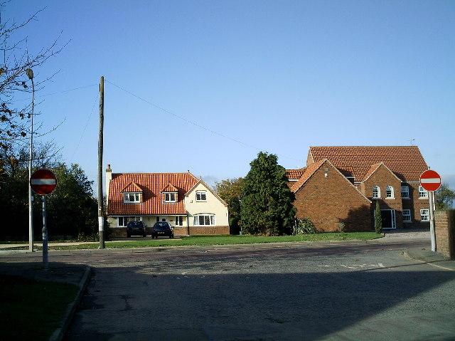 Road junction into Low Burnham village