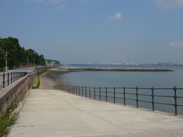 Slipway  and breakwater from Egremont Promenade