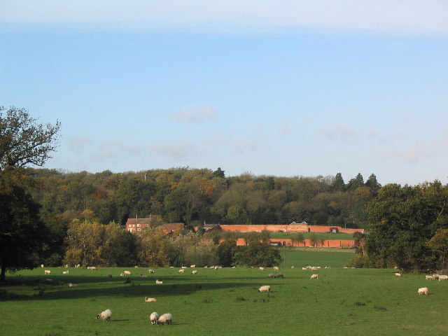 Farm with walled garden, near Little Dalby