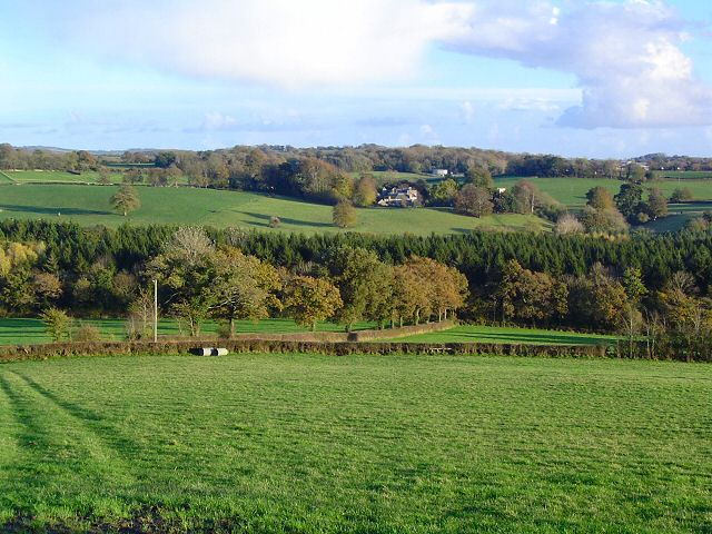 Countryside west of West Ogwell