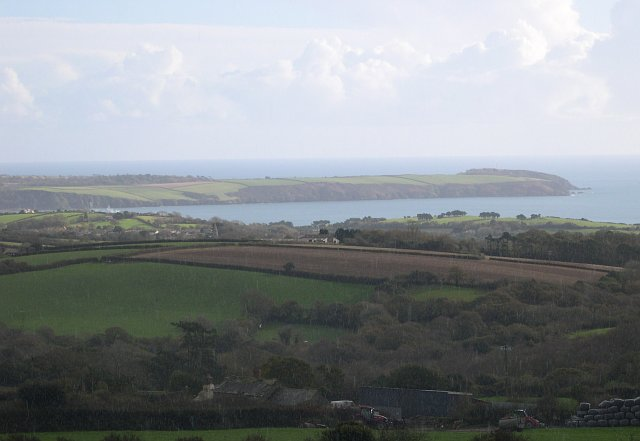 View from side of Carclaze Downs