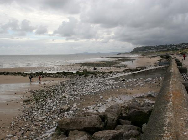 Colwyn Bay(Conwy) beach at low tide.