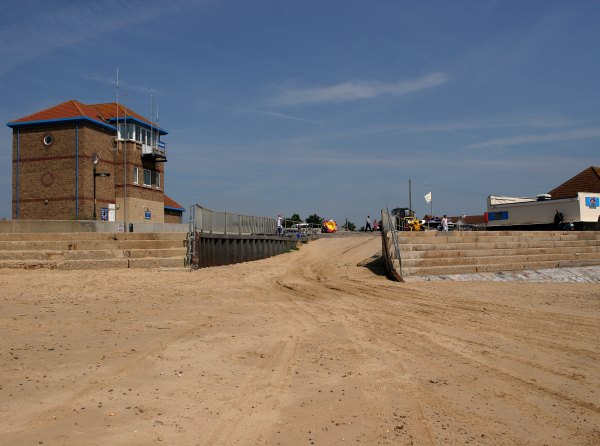 Public slipway at Clacton-on-sea