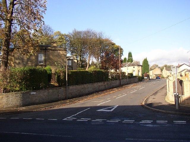 Bottom end of Field Lane, Rastrick