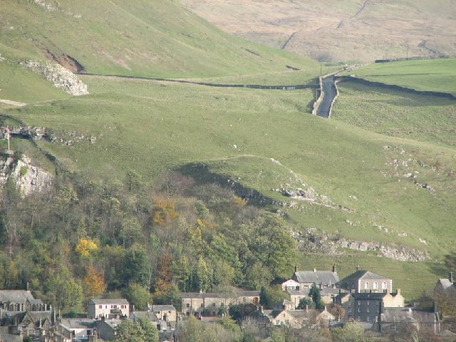 Looking East across Settle from the Giggleswick Chapel