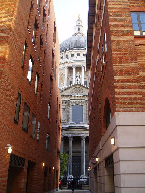 Saint Pauls Cathedral as seen from Paternoster Row