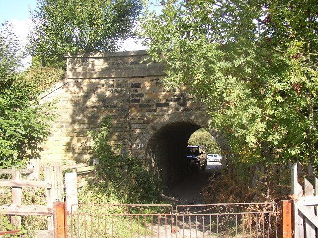 Bridge under railway at Anchor Place, Rastrick