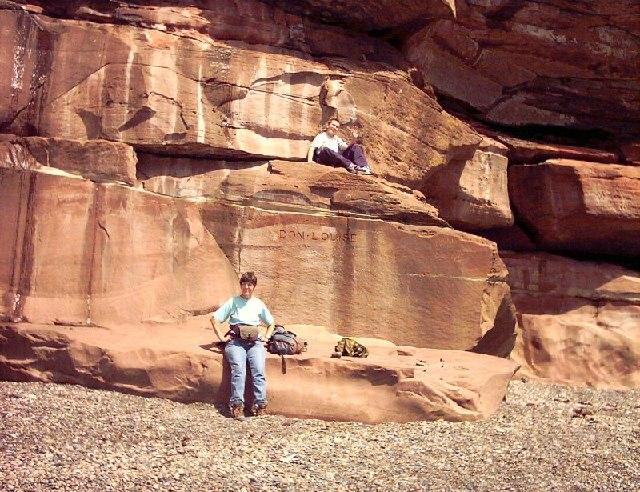 Sandstone Cliff Formation at Fleswick Bay