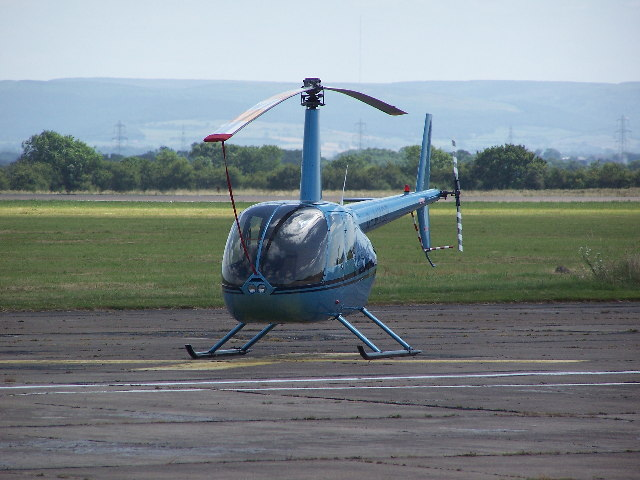 Helicopter at Durham Tees Valley Airport