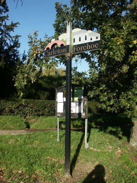 Carleton Forehoe village sign
