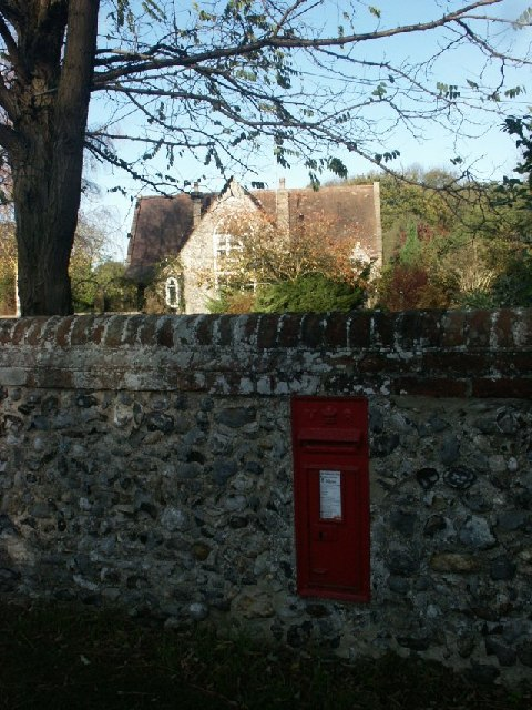 Old school, postbox, Great Melton