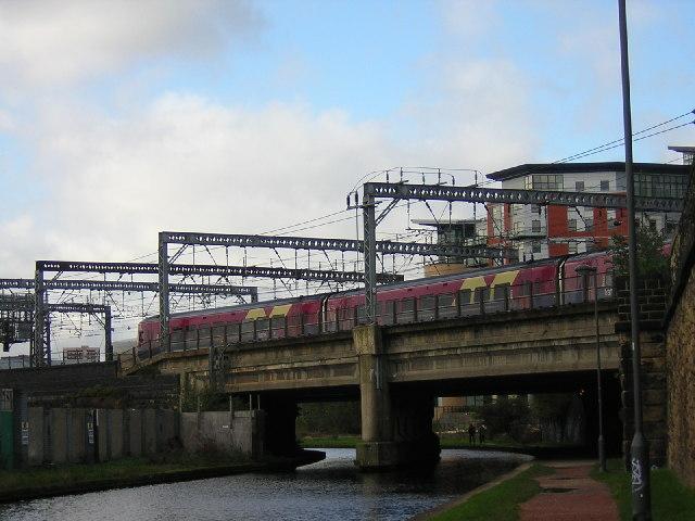 Railway Bridge into Leeds station