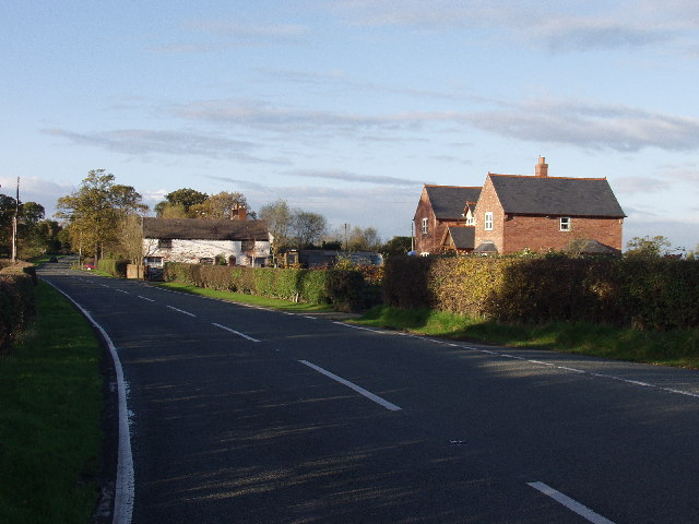 Farm Buildings and houses near Is-y-coed