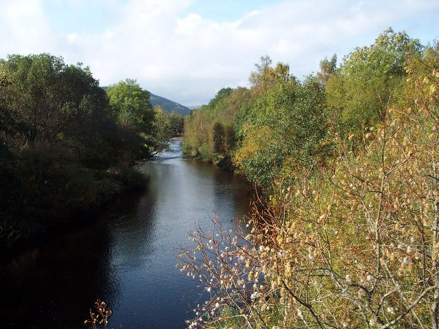 View up Ettrick Burn from Ramseycleuch Bridge
