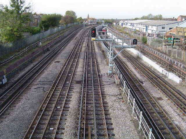 Metropolitan Line railway at Harrow-on-the-Hill