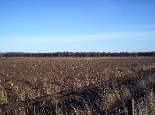 An empty Field next to the former RAF Edzell