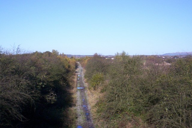 Disused railway, Bickershaw